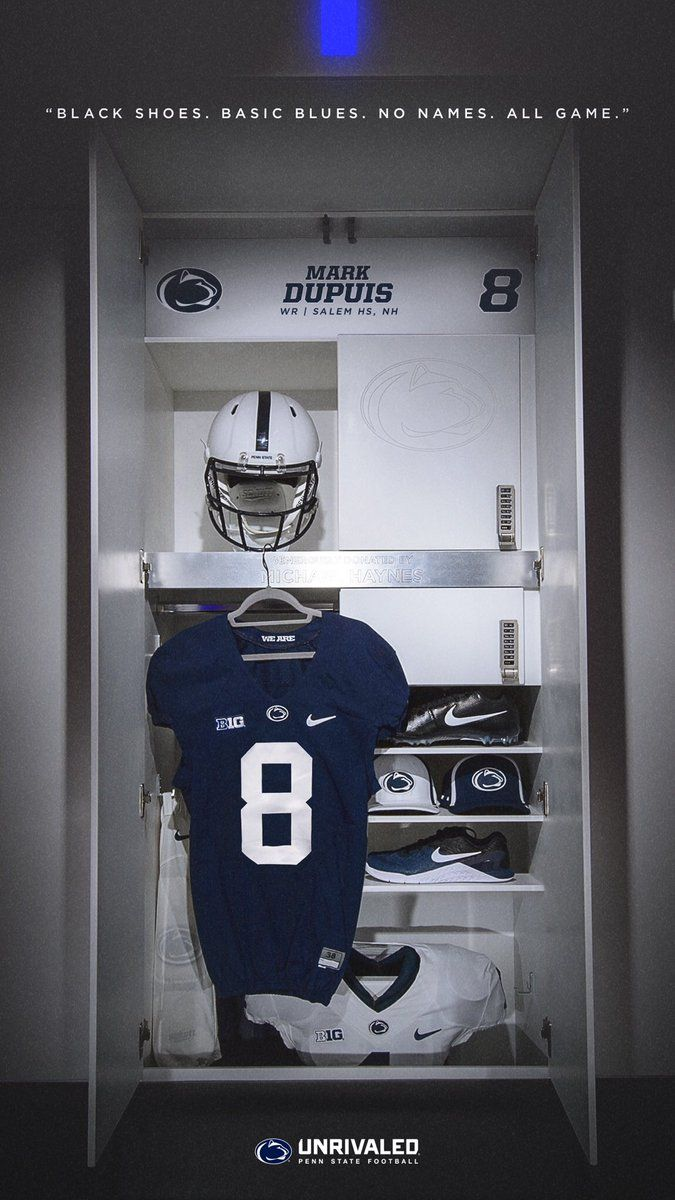 Penn State Does A Great Job Here Showing Off Their Uniforms But Also Showing Their Brand With The Words At Football Design College Football Recruiting Football