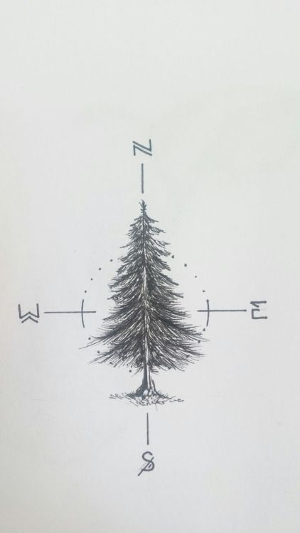 Tatto Ideas 2017 Working on a fir tree tattoo for myself...