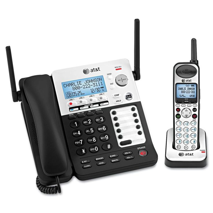 AT&T SB67138 DECT 6.0 4 Line Corded/Cordless Business