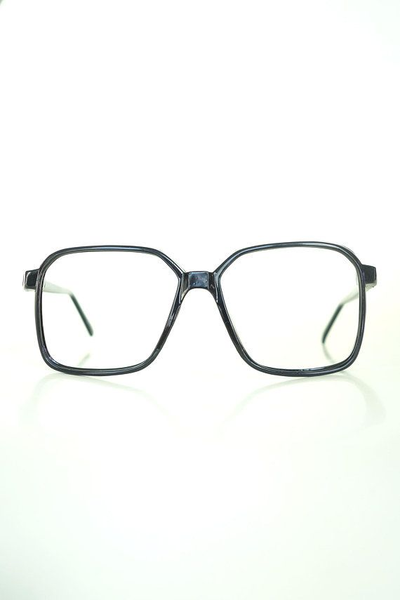 9ad028eab 1960s Mens Glasses Mens Boxy Oversized Frames Glossy Black | Oliver ...