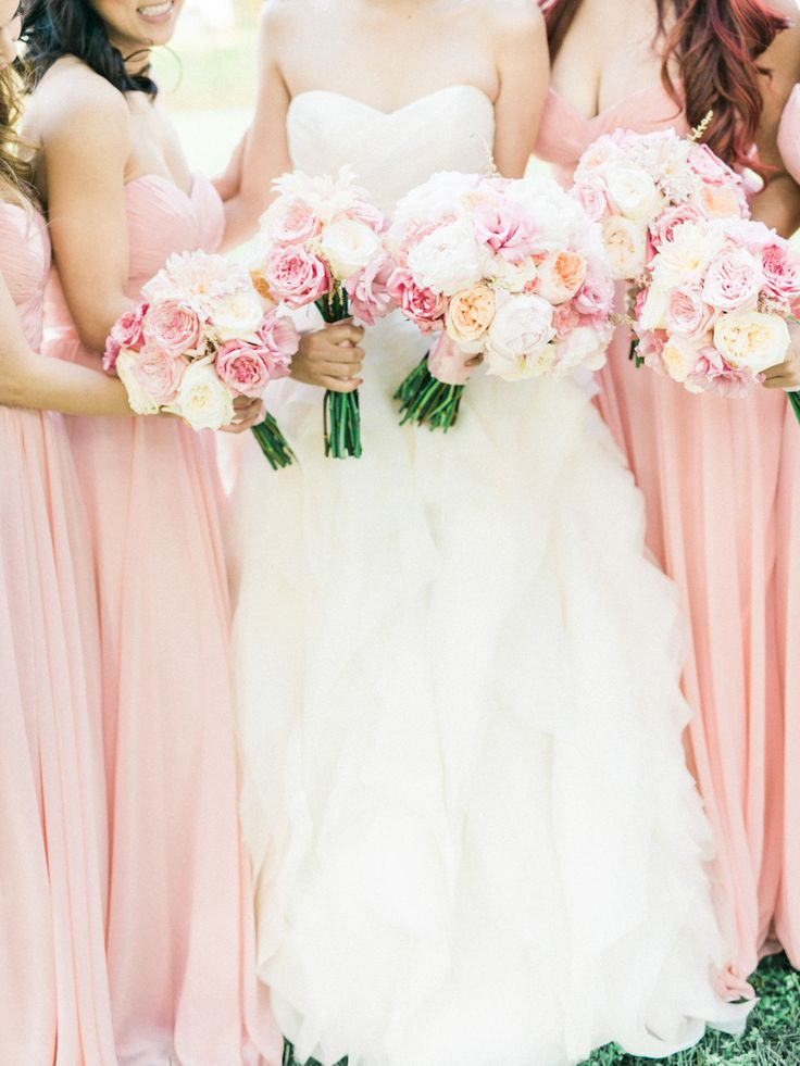 Photography: Honey Honey Photography -Rose Quartz Wedding Pantone Spring 2016 : http://www.fabmood.com/rose-quartz-wedding-theme #pinkwedding