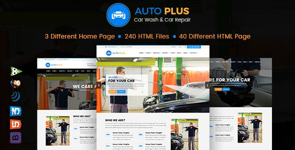 Auto Plus HTML Template is built for Car Wash, Car Cleaning, Auto Wash, Car Repair, Auto Mechanic, Car Repair Shops, Garages, Automobile Mechanicals, Mechanic Workshops, Auto Painting, Auto Repair,...