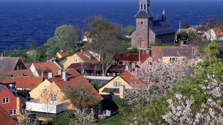 The town of Gudhjem in Bornholm, the most versatile island near the Eastern Sea. #VisitDenmark