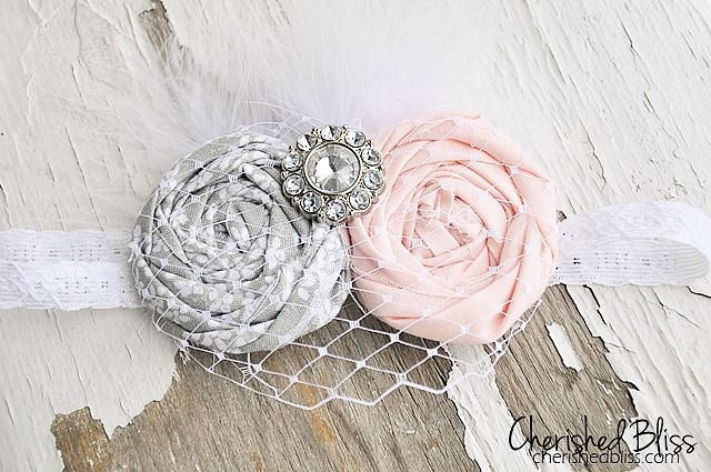 DIY Baby Vintage Headband Tutorial by Cherished Bliss                                                                                                                                                      More