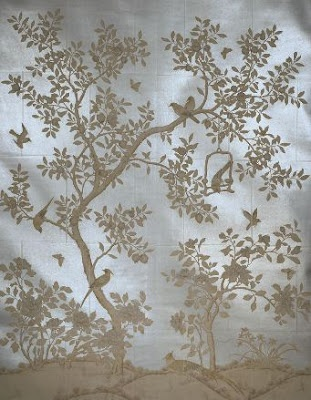 Gray/Blue/Gold- Dining Room Inspiration Gracie Chinoiserie Wallpaper