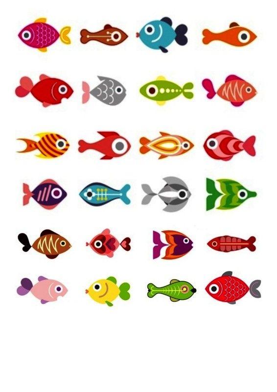 Petits poissons à imprimer