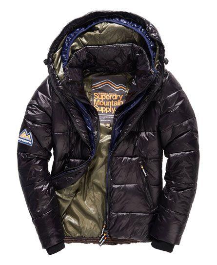 Superdry Base Camp Puffer Jacket Black