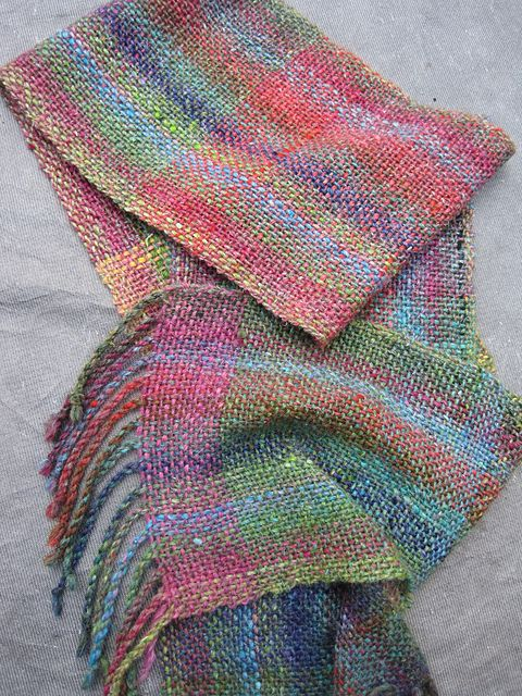 Ravelry Yarndeb S Cricket Scarf With Noro Yarn Weaving