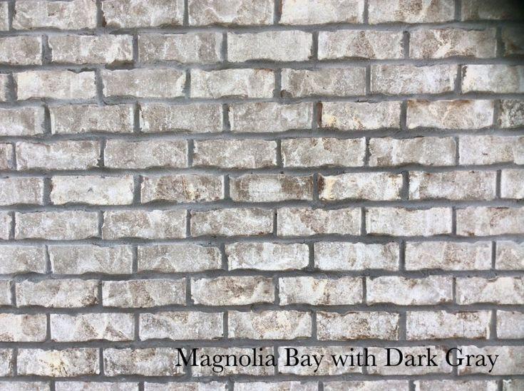 Magnolia Bay With Dark Gray In 2019 Brick Stone Brick