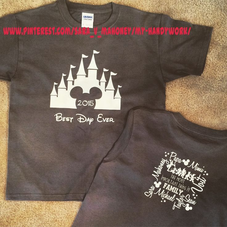 Disney Family Vacation Park T-Shirts using my Silhouette Cameo and HTV
