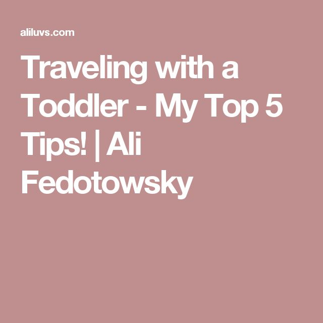 Traveling with a Toddler - My Top 5 Tips! | Ali Fedotowsky