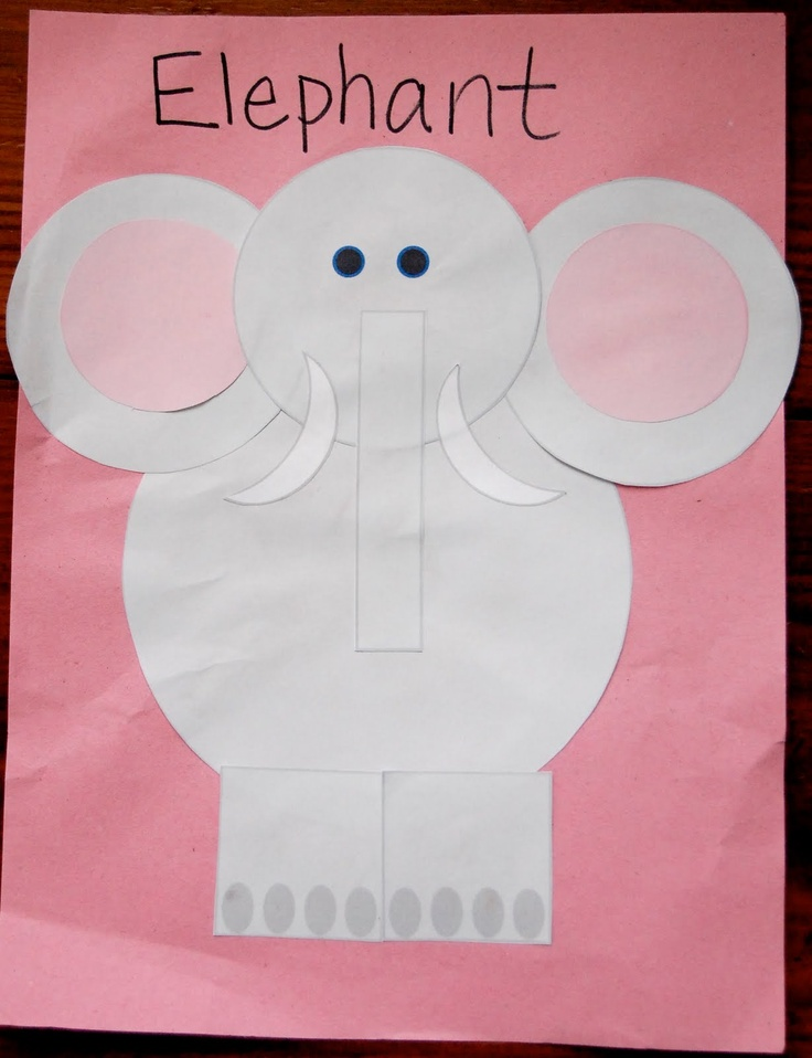 31 best images about l phants on pinterest for Elephant template for preschool