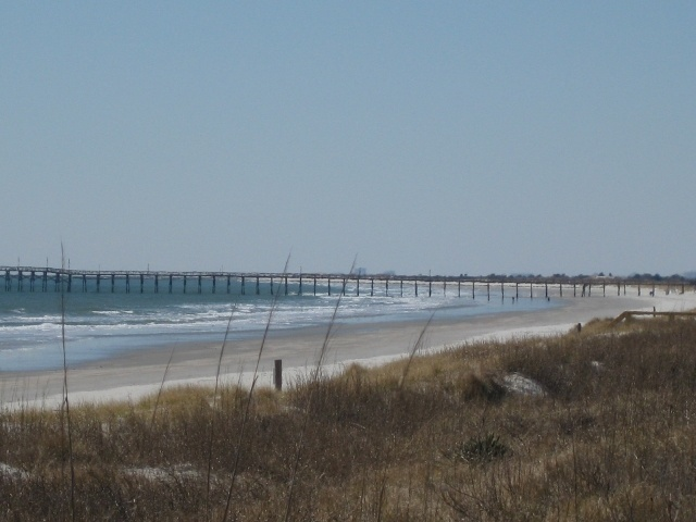 Sunset Beach, NC.  We used to go here when I was a child and it looks exactly the same now as it did then.