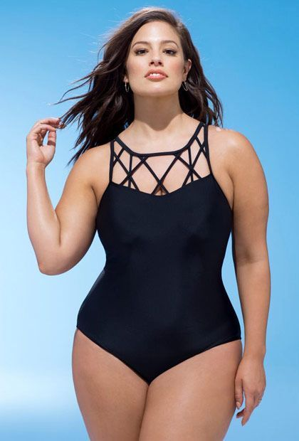 Plus Size Spider Swimsuit