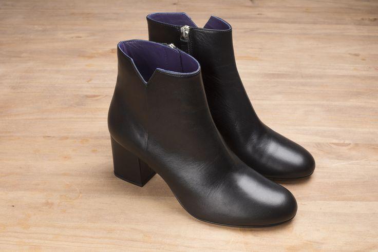 Virgin cuir noir #anaki #shoes #leather #boots #bottines