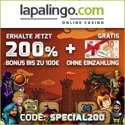 Lapalingo Casino Bonus 10 euro gratis