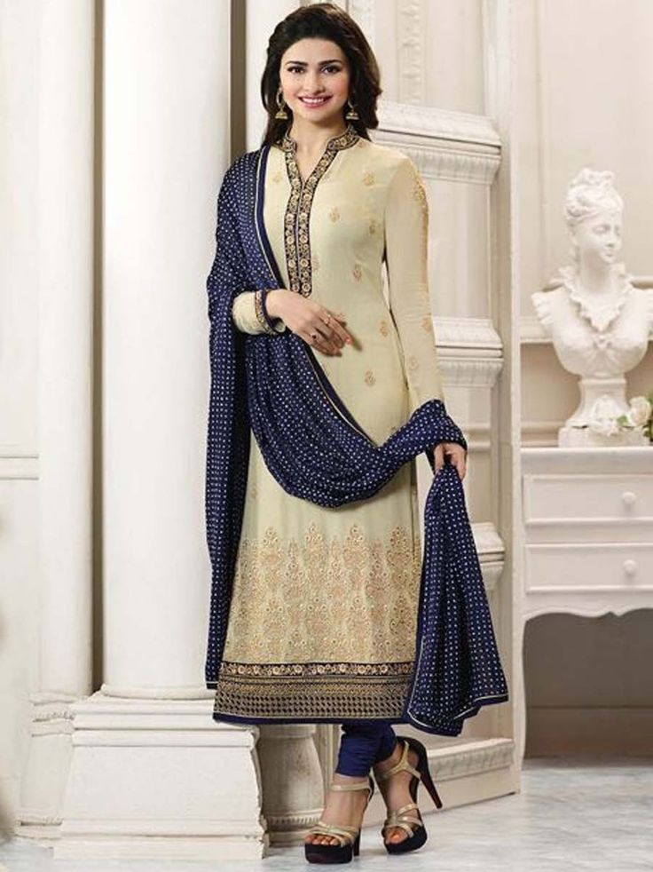 Glorious outfit is a way of getting yourself noticed. Item code: SLANB264562 http://www.bharatplaza.com/new-arrivals/salwar-kameez.html