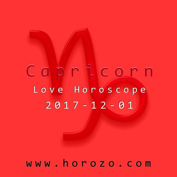 Capricorn Love horoscope for 2017-12-01: Forget the conventional today: you need to get creative when it comes to your love life. If you're game for just about anything (and keep your expectations realistic), you're sure to have all sorts of fun!.capricorn