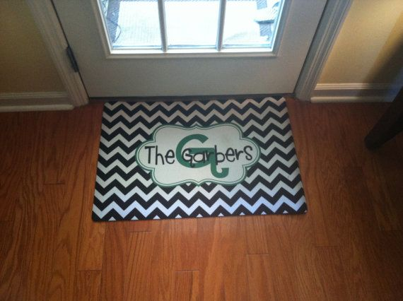 Hey, I found this really awesome Etsy listing at http://www.etsy.com/listing/128267981/small-door-mat-personalized-and