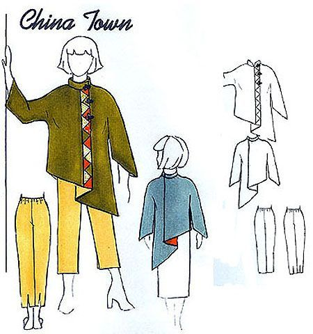 Lagenlook Sewing Patterns | China Town by Park Bench Patterns
