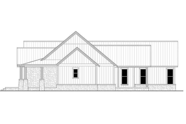 Traditional Style House Plan 80801 With 3 Bed 3 Bath 3 Car Garage In 2021 Farmhouse Style House Plans Farmhouse Style House Building Plans House Traditional house plan 80801
