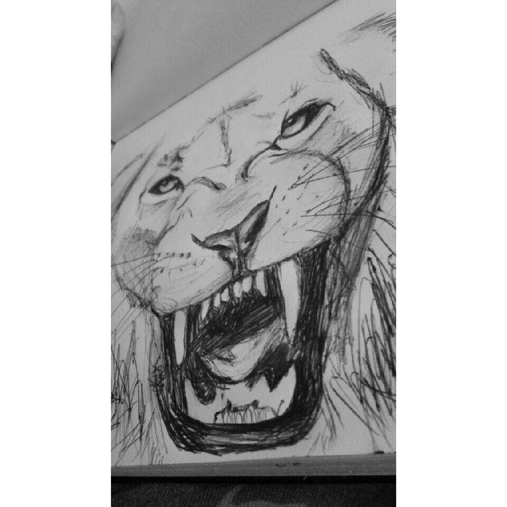 Pen sketching by cflynn #pen #sketch #lion