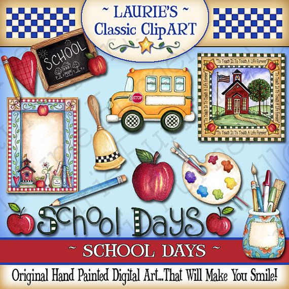 School Days Digital Art Collection by lauriefurnelldesigns on Etsy, $4.95 School will start before we know it! Get this GREAT clip art now!