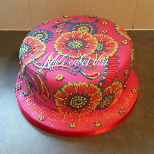 First mendhi/henna style cake