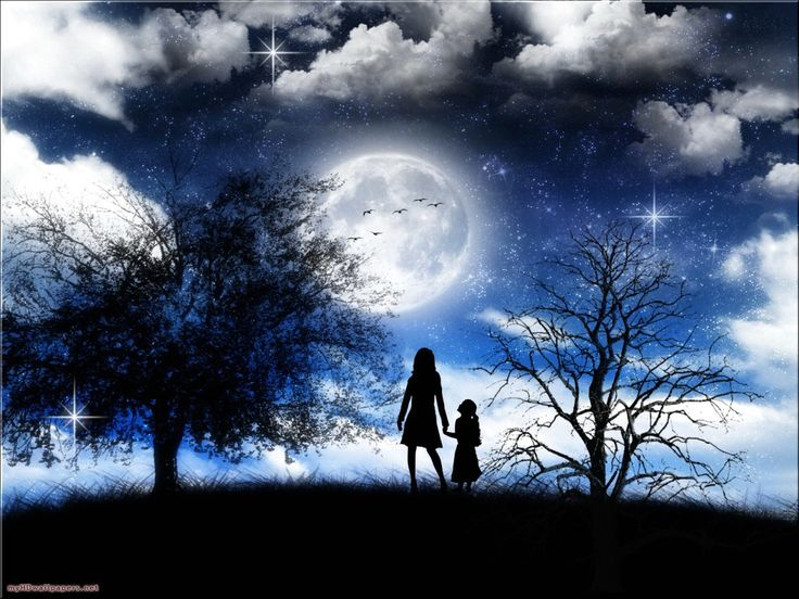 moonlight backgrounds | Beautiful Romantic Moonlight Wallpapers