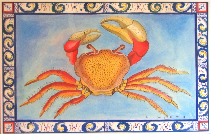 Ellie Wyeth, Place Mat - Pink Crab