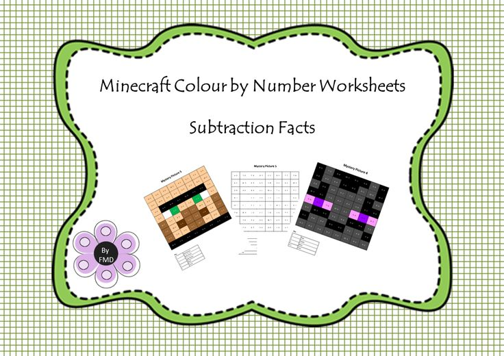 Minecraft - Subtraction Facts