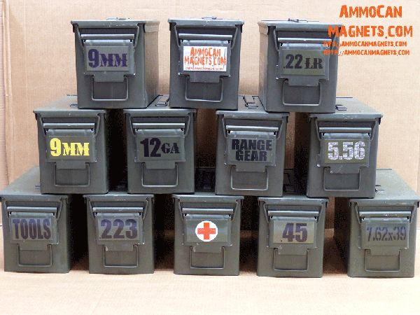 .50cal Size Ammo Can Magnets
