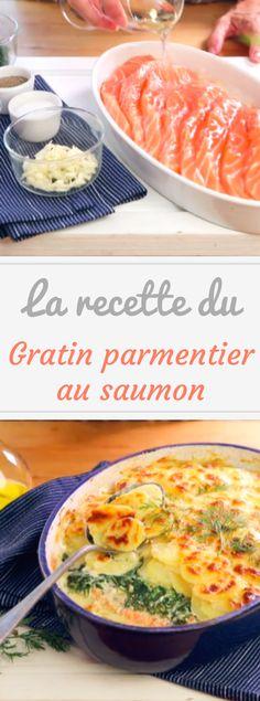 Découvrez la recette en vidéo du gratin parmentier au saumon