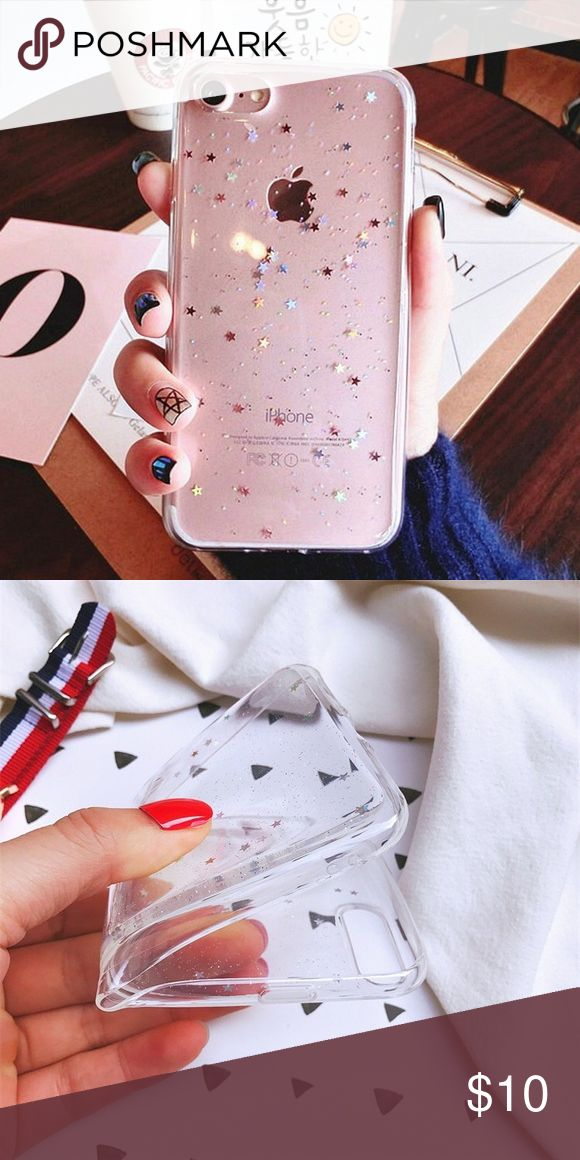 iPhone holographic star clear case iPhone Holographic Heart Black Case (for multiple phone models) Brand new silicone case, the stars DO NOT move Available for: iPhone 5/5s/SE iPhone 6/6s iPhone 6 Plus/6s Plus iPhone 7 iPhone 7 Plus Accessories Phone Cases #iphone6spluscase, #iphone7pluscase