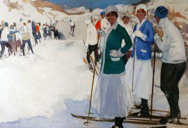 Piet van der Hem - On the slopes  Albricht art gallery
