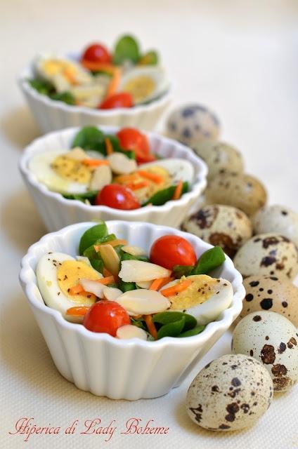 Italian Food - Insalata con uova di quaglia