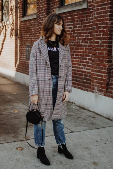 Casual Outfit from themoptop with TopShop Coats, Balenciaga T-Shirts, TopShop Tote Bags, Levi's Jeans, Saint Laurent Boots