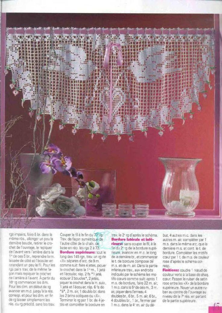 76 best τουλιπες images on Pinterest Crochet tablecloth, Table - gardinen für küche