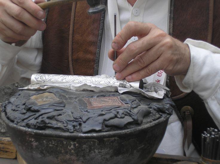 Detail in Silversmith's work
