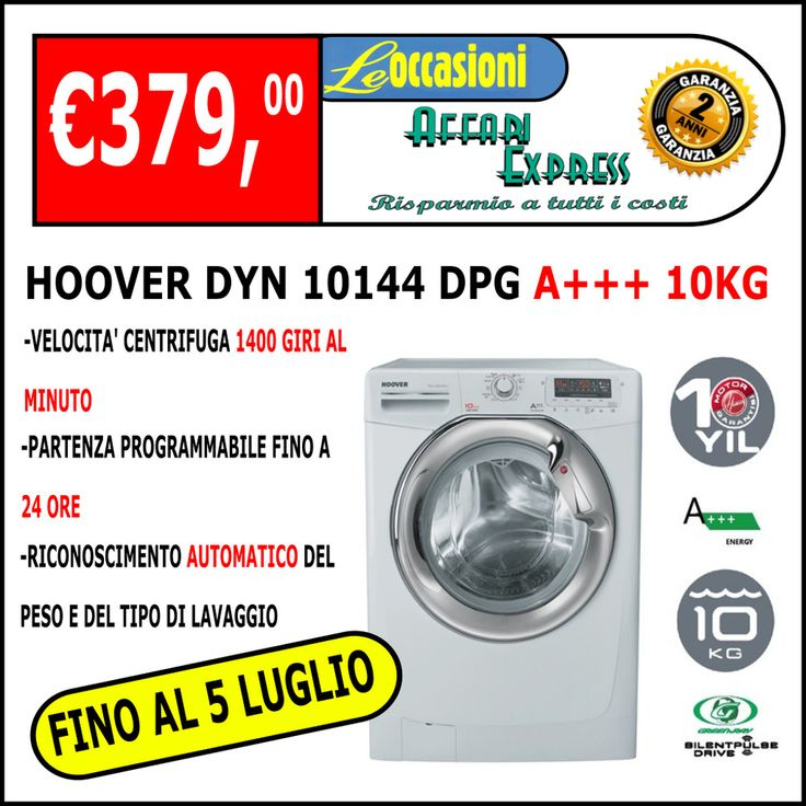 Lavatrice a carica frontale HOOVER DYN 10144 DPG   10KG A+++