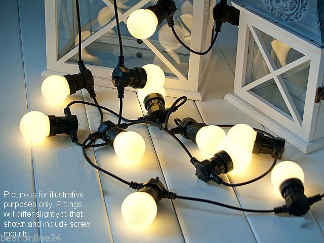10 Piece Clear Festoon Party Light Kit - Range of Globe Types Available.