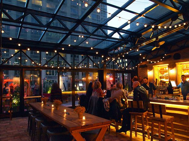 Refinery Hotel rooftop...serving vitamin-packed cocktails and amazing city views