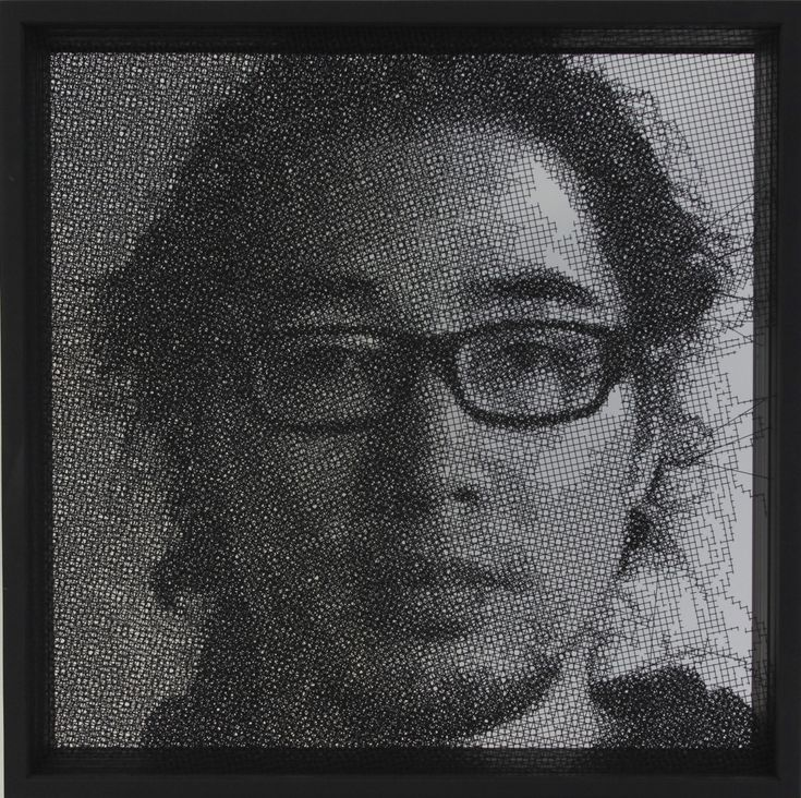 parkseungmo portrait, 800x800(mm),stainless steel,2011