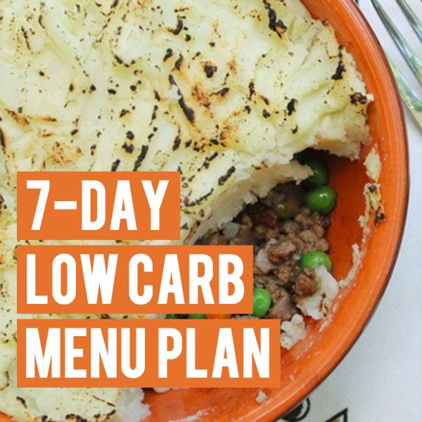 7-Day Low Carb Menu Plan | Cauliflowers, 7 day meal plan ...
