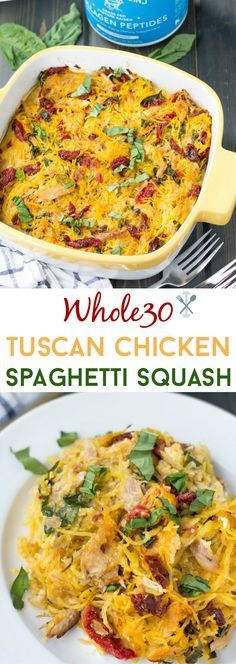 Paleo & Whole30 compliant made with only 6 ingredients! With an extra boost of protein and amino acids with Vital Proteins collagen #sponsored (Chicken And Squash Recipes)
