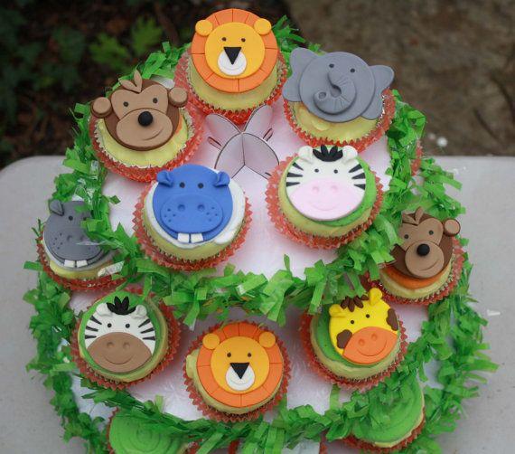 25 beste idee235n over safari cupcakes op pinterest