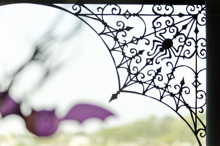 Spider Web by Cricut® - can make with waxed paper and puffy paint