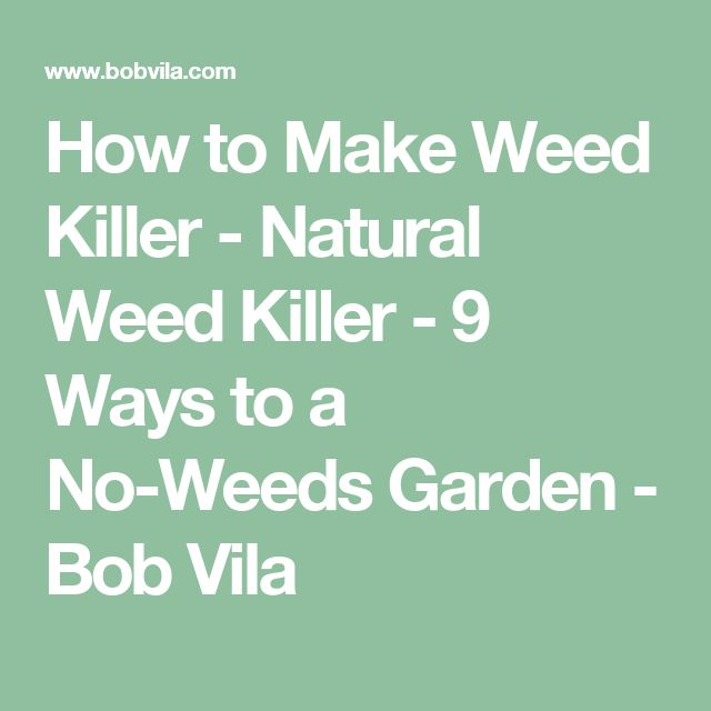 How to Make Weed Killer - Natural Weed Killer - 9 Ways to a No-Weeds Garden - Bob Vila
