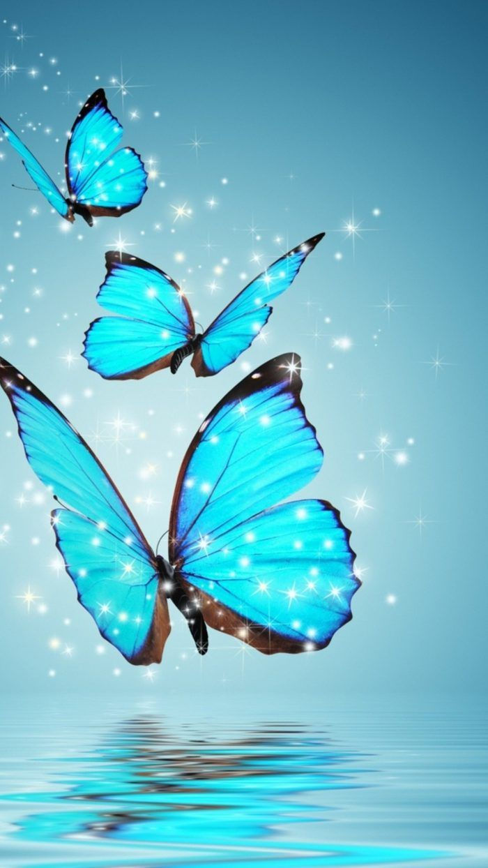 Wallpaper Blue Butterfly Iphone With Hd Resolution 1080x1920 Blue Butterfly Wallpaper Butterfly Wallpaper Iphone Butterfly Painting