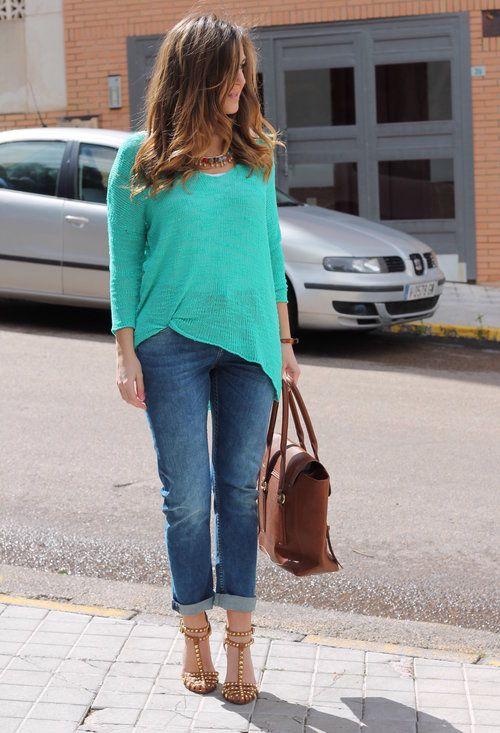 Turquesa!  , Zara en Jerseys, Zara en Jeans, garbo en Otras joyas / Bisutería, Nowistyle en Bolsos, Zara en Tacones / Plataformas